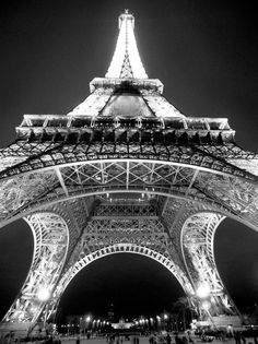 Eiffel Tower glorious in black and white