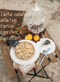 Ricette di Cultura: Pie with white cabbage, pears and Roquefort.