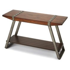 Butler Specialty Company 3856330 Butler Lamont Iron and Wood Console Table Industrial Bar Stools, Modern Industrial, Industrial Furniture, Entryway Furniture, Furniture For Small Spaces, Table Furniture, Wood Drawer Pulls, Glass Table, Types Of Wood