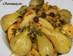 Chicken tagine with fennel and candied lemon - With candied lemon Easy Cooking, Cooking Recipes, Moroccan Dishes, Moroccan Recipes, Arabian Food, Top Recipes, Dessert Recipes, Winter Food, No Cook Meals