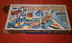 Vintage 1970's Mouse Trap Board game.