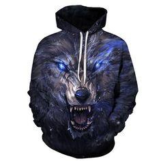 e8b8871326f0 Wolf Hoodies 3D Men Hoodie Pullover Brand Streetwear Animal Prints  Sweatshirts