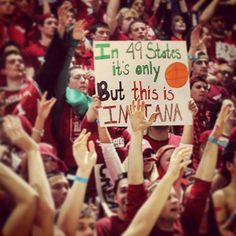 In 49 states it's just basketball, but this is Indiana!