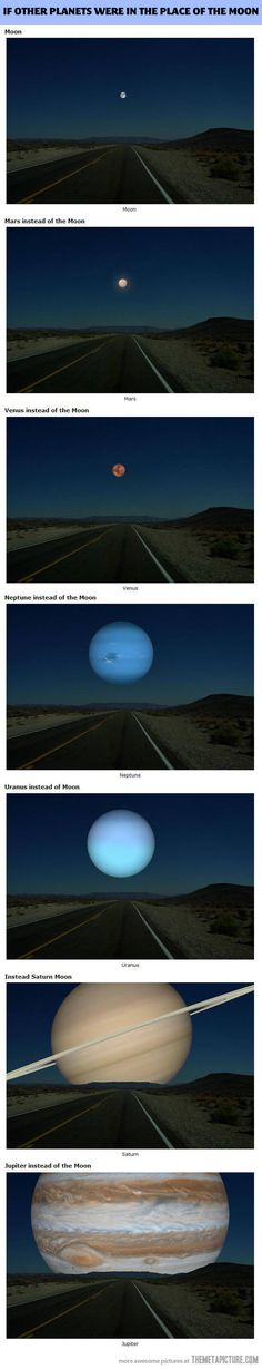 If planets were in the place of the moon…Helps me put the size of them into perspective. God is so creative!
