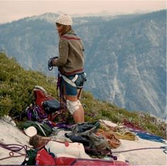 Beverly Johnson, the first woman to climb the face of Yosemite's 3,000-foot El Capitan, by Sibylle Hetchel