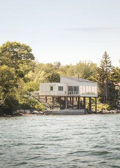 Contemporary Exterior by Elliott + Elliott Architecture