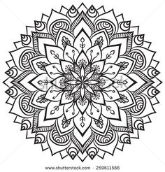 Mandala. Ethnic decorative elements. Hand drawn background. Islam, Arabic, Indian, ottoman motifs.
