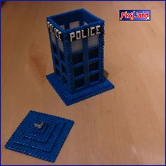 Tardis box - Doctor Who hama beads by pix-l-and