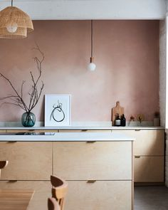 The stunning project with & Plykea birch plywood fronts with brass… Plywood Kitchen, Brass Kitchen, Kitchen Handles, Wooden Kitchen, Plywood Walls, Plywood Furniture, Modern Furniture, Wooden Gazebo Kits, House Extension Design