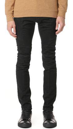 PIERRE BALMAIN Moto Jeans. #pierrebalmain #cloth #jeans