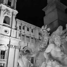 Fontana dei Quattro Fiumi  Chiesa di Sant'Agnese in Agone  Bernini vs Borromini by paolo_alberto