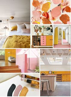 Help us choose the colour palette for our renovation! (a pair & a spare) Mustard And Grey Bedroom, Mustard Living Rooms, Blush Living Room, Mustard Yellow Bedrooms, Yellow Bedding, Bedroom Colour Palette, Bedroom Colors, Home Decor Bedroom, Shabby Bedroom