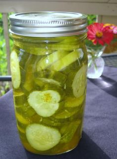 Microwave Dill Pickles from Food.com: These make a quart of pickles at a time.  Quick and easy. (i made microwave bread and butter pickles yesterday... time to try dill)