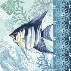 Shop for Portfolio Canvas Decor Elena Vladykina 'Tropical Fish Framed Canvas Wall Art (Set of Get free delivery On EVERYTHING* Overstock - Your Online Art Gallery Store! Canvas Frame, Canvas Wall Art, Illustrations, Illustration Art, Painting Prints, Art Prints, Nautical Art, Coastal Art, Ocean Art