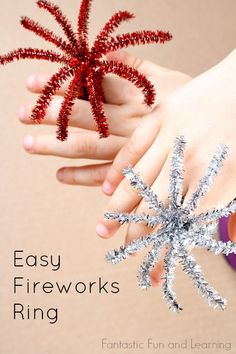 fourth of july crafts for kids, ring craft, fireworks kids, easy summer crafts for kids, firework ring