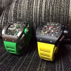 Hmm.... RM011 Mancini or Carbon? Richard Mille watches!
