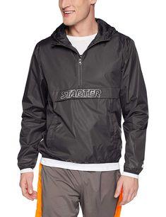 b561f615 Amazon.com: Starter Men's Popover Packable Jacket, Amazon Exclusive:  Clothing