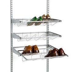 The Container Store U003e Platinum Elfa Gliding Shoe Shelf