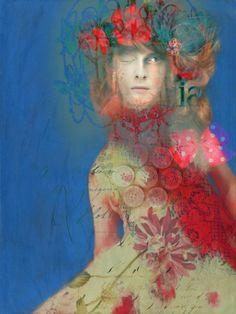 ⊰ Posing with Posies ⊱ paintings of women and flowers - Sarah Jarrett
