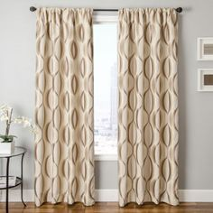 <p>Add some excitement to your window with the Dover rod-pocket curtain
