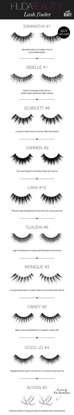 Huda Beauty Lashes to add to your makeup kit or collection. Perfect for dramatic or natural looks / night out.