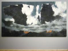 Robert Zandvliet - Maannacht - Tempera op doek Mountain Paintings, Tempera, Contemporary Art, Artsy, Abstract, Beautiful, Egg, Mountains, Artists
