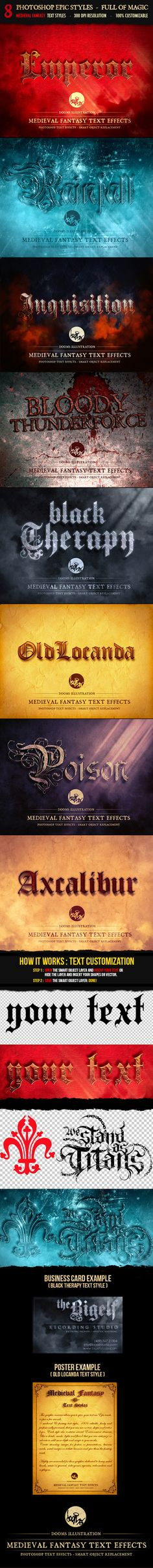 Medieval Fantasy Text Effects. Download here: http://graphicriver.net/item/medieval-fantasy-text-effects-/8641334?ref=ksioks