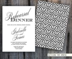 Printable Black/White Rehearsal Dinner by BeyondThePaper on Etsy, $14.00