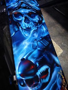 Custom Airbrushed Tool Box - Painted by Mike Lavallee of Killer Paint - www.killerpaint.com