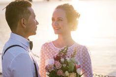 Ace & Maya - real wedding, couple, love, wedding photography, Sydney wedding photographer, wedding picture inspiration, floral bouquet, flowers, smiling bride