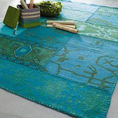 Tapis en laine bleue 140 x 200 cm IZMIR