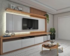 15 TV Cabinet Designs That Will Make Your Living Room Ultra Stylish Living Room Tv Unit Designs, Ceiling Design Living Room, Living Room Interior, Living Room Decor, Living Rooms, Tv Cabinet Design, Tv Wall Design, Tv Wanddekor, Tv Wall Cabinets