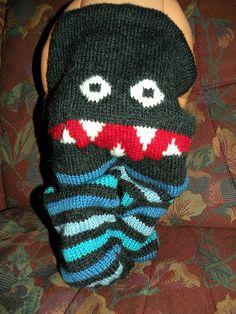 """Created by knitting designer Hrönn Jónsdóttir. Free pattern via Ravelry Hat tip: If you like monster pants, try these popular """"Monster Bum Pants"""" too. Knitting Designs, Knitting Patterns Free, Knit Patterns, Free Knitting, Knitting Projects, Baby Knitting, Crochet Baby, Free Crochet, Free Pattern"""