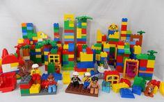 Lego Duplo Building Blocks Lot Mixed Parts Figures Building Plate 430+ Pieces  #LEGO