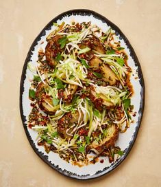 Yotam Ottolenghi's roasted and pickled celeriac with sweet chilli dressing Chilli Recipes, Vegetable Recipes, Asian Recipes, Vegetarian Recipes, Cooking Recipes, Healthy Recipes, Ethnic Recipes, Pescatarian Recipes, Veggie Food