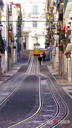 Bica Funicular, Lisbon, Portugal - We love Lisbon