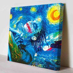 Joker Starry Night Canvas Print by PeriodDesign on Etsy