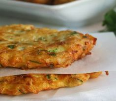Pataniscas are similar to codfish cakes/pasteis de bacalhau, except that they are made with flour instead of potatoes and have a flatter shape. Cod Recipes, Fish Recipes, Cooking Recipes, Healthy Recipes, My Favorite Food, Favorite Recipes, Vegan Fish, Portuguese Recipes, Portuguese Food