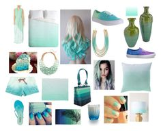 """Blue-mint-lilac ombre"" by lovelyyouandme ❤ liked on Polyvore featuring Vans, Lydell NYC, BaubleBar, Best Society, DENY Designs, Roxy, VIVO, Tkees, Illume and Nanette Lepore"