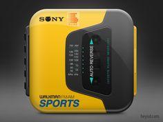 Simply elegant and beautiful Sony Walkman Sports player iphone icon. Web Design, App Icon Design, Dot Icon, Mobile Application Design, Mobile Icon, Iphone App Design, Ios App Icon, Iphone Icon, Photoshop