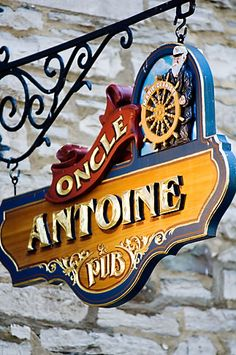 Canada, Quebec City, Restaurant Sign | David Sanger Photography