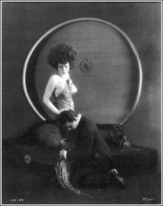 """Alla Nazimova with Rudolph Valentino in """"Camille"""" (1921)"""