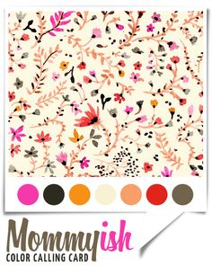 A fun palette with pops of bright with some great neutrals!  #color #inspiration #palette #watercolor #fall