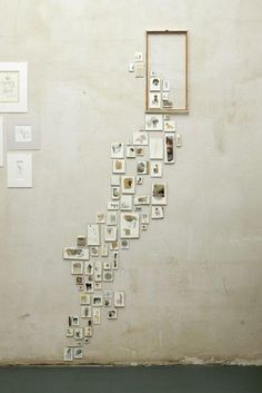 Thinking outside the frame...a stairway of mini works of art!