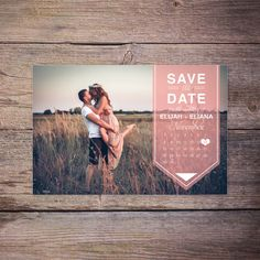 Modern Save the Date Postcard Save-the-Date Card Photo