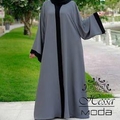 """""""كولكشن العودة للجامعة قماش الكريب الملون Abaya: @hessa_moda Photography: @danakayphoto #hessa_moda #fashion #abayat #abayadesigner #abayafastion #abaya…"""" Hijab Fashion 2016, Abaya Fashion, Muslim Fashion, Fashion Dresses, Hijab Prom Dress, Hijab Outfit, Muslim Gown, Abaya Pattern, Breastfeeding Dress"""
