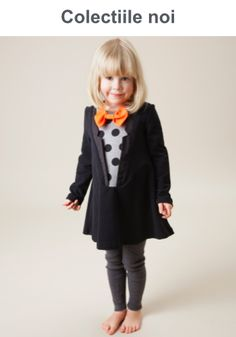 Bang Bang Copenhagen is known for their characteristic pieces. From fringe tops to striped dresses-shop their line of playful clothing today! Baby Girl Dresses, Baby Dress, Little Girl Outfits, Kids Outfits, Funky Bow, Look Cool, Kids Fashion, Copenhagen