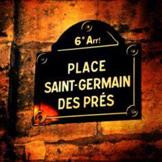 Place Saint-Germain des Prés. The left bank is my favorite part of Paris...been there many times...