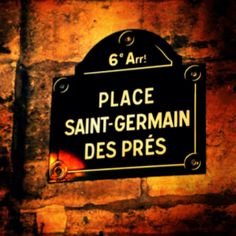 Place Saint-Germain des Prés. The left bank is my favorite part of Paris...been there many times...