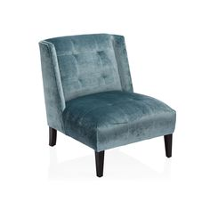 Dressed in gorgeous peacock velvet, this lovely tufted accent chair brings a touch of glamour to the bedroom or living room. The Brentwood Chair features full upholstery and tapered feet. Comfy Bedroom, Bedroom Chair, Bedroom Decor, Tufted Accent Chair, Loft Interior Design, Slipper Chairs, Loft Interiors, Accent Chairs For Living Room, Dining Room